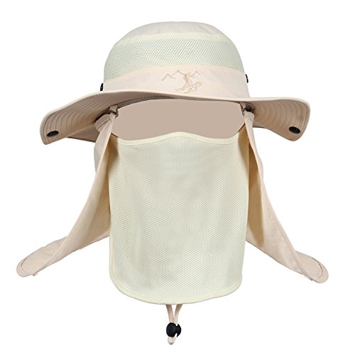 生活ベックス未接続アウトドアハット メンズ 日除け帽子 ハット 3WAY フィッシング 登山 帽子 UVカット 通気 フェイスカバー付き