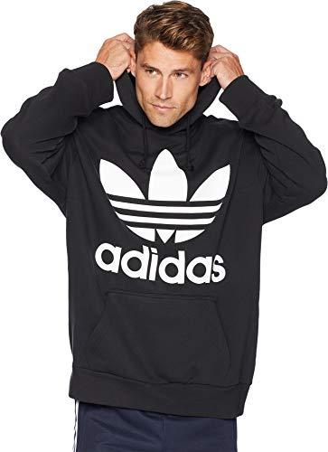 adidas Originals Men's Trefoil Oversized Hoodie Black ()
