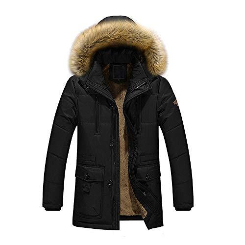 Capuche Homme En Plus Veste Manteau Noir Chaud Coton Doudoune Hiver À Épais Internet ZPdxtx0