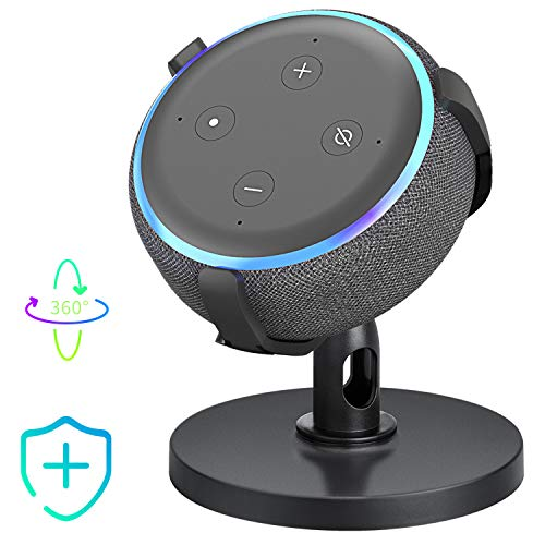【Dot 3rd Generation Stand】 Table Holder for Echo Dot 3rd Generation, 360° Adjustable Stand Bracket Mount, Space-Saving…