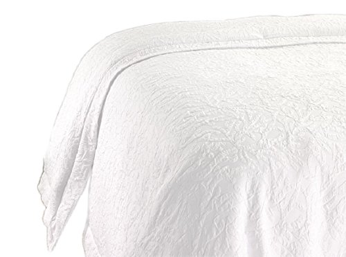 Hampton Inn Hotel White Jacquard Duvet Cover & Insert KING SET (Jacquard Bedding King)