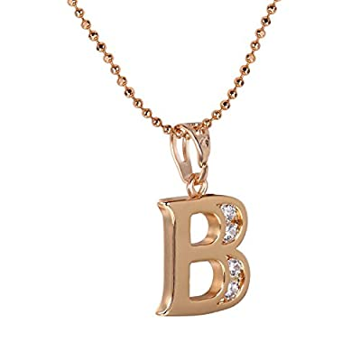 Snowman Lee Lucky Gold Tone 18k Rose Gold Plated Pendant Necklace For Women's