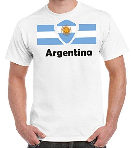 Uomo Paesi T shirt Calcio Mondo Argentina I Di 2018 Bandiera Bianco Oversized S Del 5xl Coppa 2store24 Tutti Partecipanti Iwq7YY