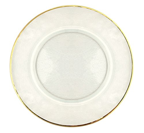 Red Pomegranate 999-1 Charger Plate 13 in. 24K Gold Rim Charger Plate - Set of 4