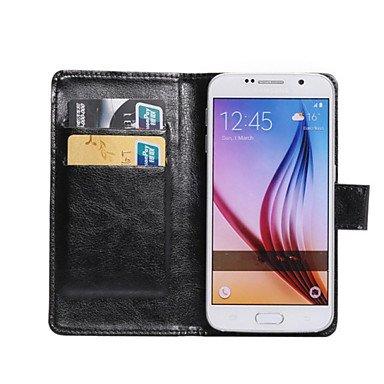360 Degree Flip PU Leather phone Case Purse businiss For Galaxy Grand Max/Fame Lite/Core Mini/Core 2/Ace 4/E5 ( Color : Black , Compatible Models : Samsung Z3 )