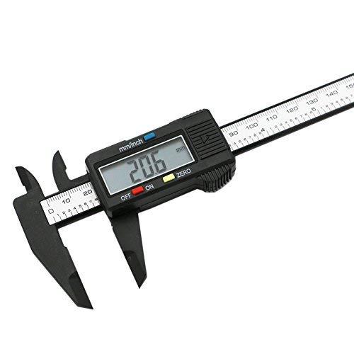 Carbon Electronic Digital Vernier Caliper Micrometer Guage  LCD 6 #Z