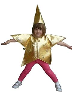 Golden star nativity costume kids age 3 5 yrs small amazon gold star costume childs size medium 3 5 yrs nativity solutioingenieria Choice Image