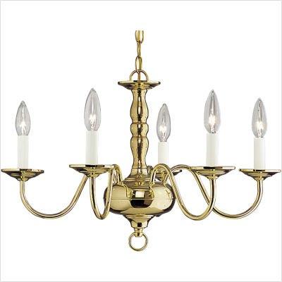 - Progress Chandeliers Mid Sized Americana Polished Brass