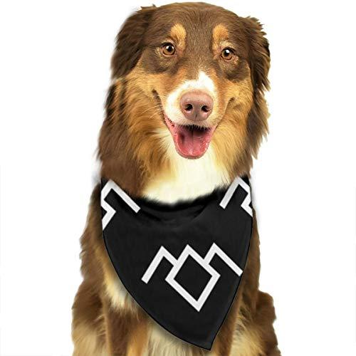 ZZJIAK Dog Bandana Scarf Twin Peaks Owl Petroglyph Triangle Bibs Printing Kerchief Set Accessories Dogs Cats Pets -