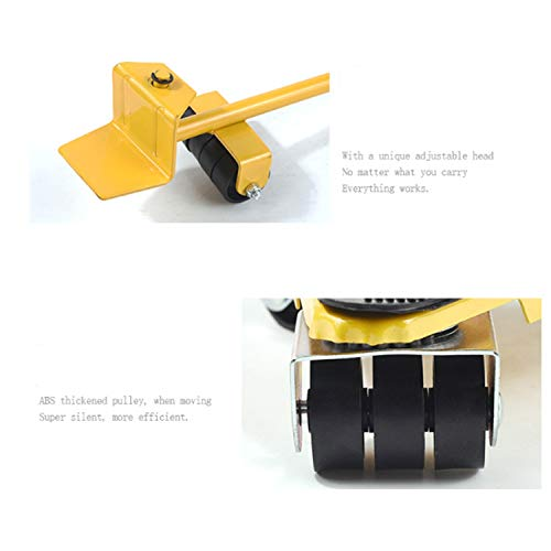 Your only family Practical Can Bear 400-500KG Triangular Moving Device Triangle Iron Mover with Universal Wheel Movable Portable Easy to Move Heavy Goods and Furniture Durable (Color : Yellow) by Your only family (Image #3)