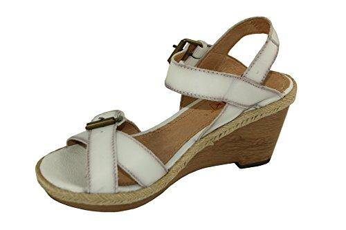 Zeppa Sandali 9 Pikolinos Bianco Con Aperte Numero Cm 40 Scarpe Donna FPq4wAH
