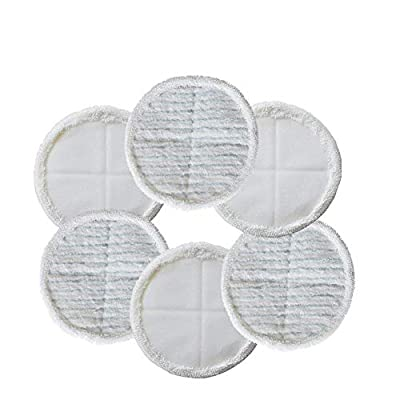 EZ SPARES Mopping Cloths Replacement for Bissell Spinwave Steam Mop Pad Kit 2039A 2124,Wet Mopping Vacuum Cleaner Accessories Spare Parts(6 Pcs)