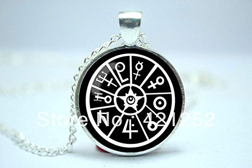 Dome Inspired (Pretty Lee 2015 Fashion Salior Moon Sailor Symbols Inspired Glass Cabochon Dome Pendant Necklace Christmas gift)