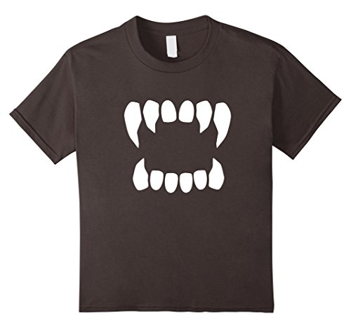 Kids Funny Vampire Teeth Bite Halloween Costume Tshirt 10 Asphalt