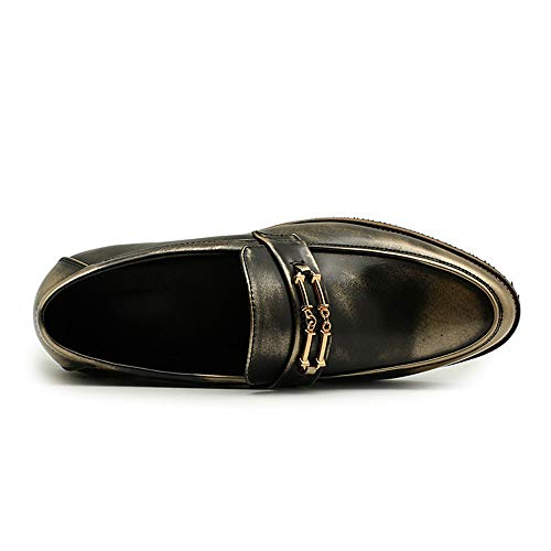Casual Oxford in da Cricket Scarpe Scarpe antiruggine Affari Comode Gold Metallo Uomo antiruggine Nuovi da xqaAw4I1tW