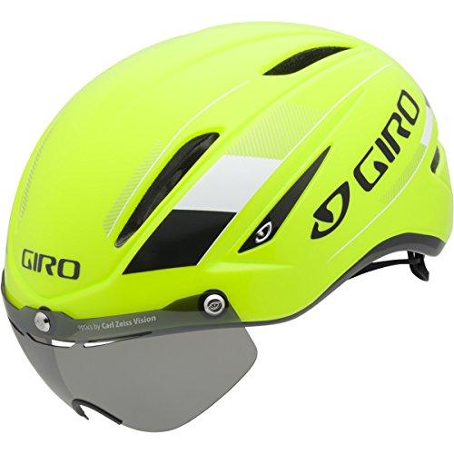 Giro Air Attack Shield Bike Helmet – Highlight Yellow/Black Small