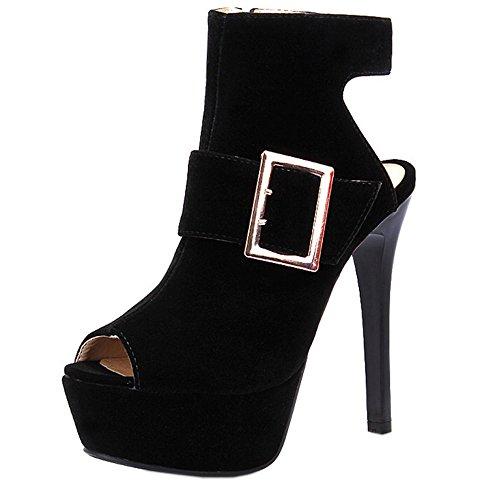 8 Black Talons Hauts Plateforme Mode Femmes Toe Peep Taoffen Sandales OqwZBCx