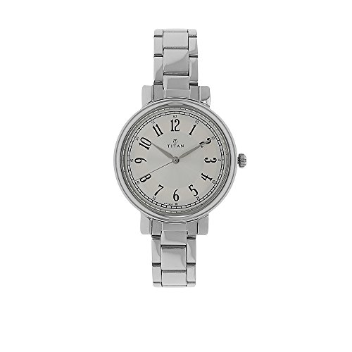 Titan Women's 'Neo' Quartz Metal and Brass Watch, Color:Silver-Toned (Model: 2554SM01)