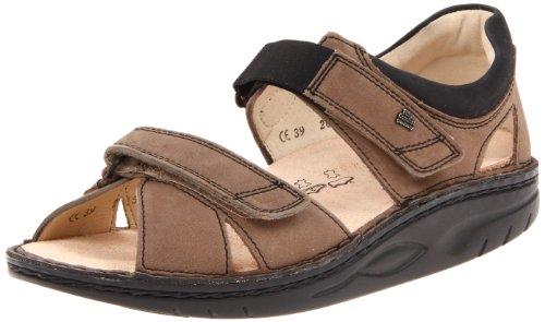 Finn Comfort Samara Sandal Mud/Black Leather