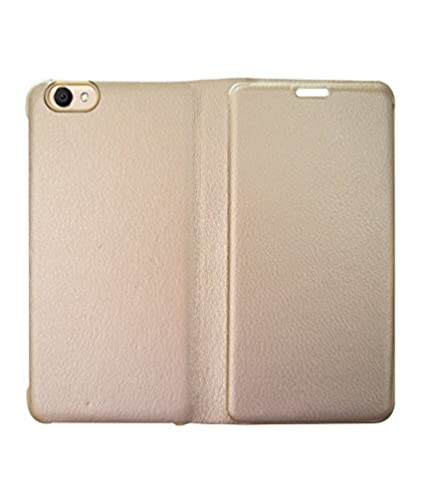 online store ecc9a 1e9e5 COVERNEW Flip Cover for Vivo 1606::Vivo Y53 - Golden