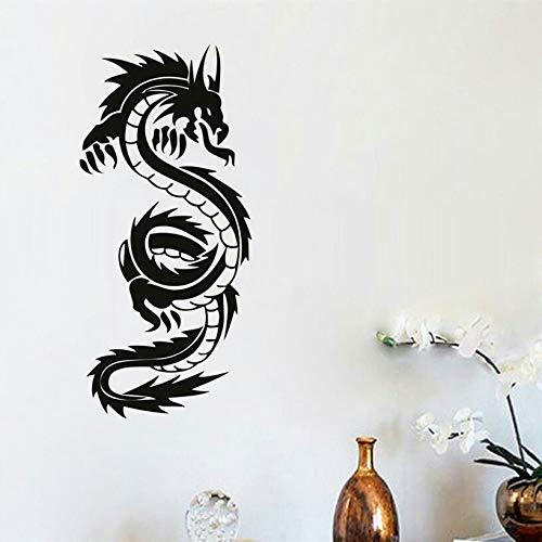HANHAN Dragón Chino Mural Decoración del hogar Vinilo Arte ...