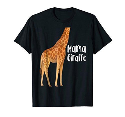 Funny Mama Giraffe Family Matching Costume Halloween T-Shirt