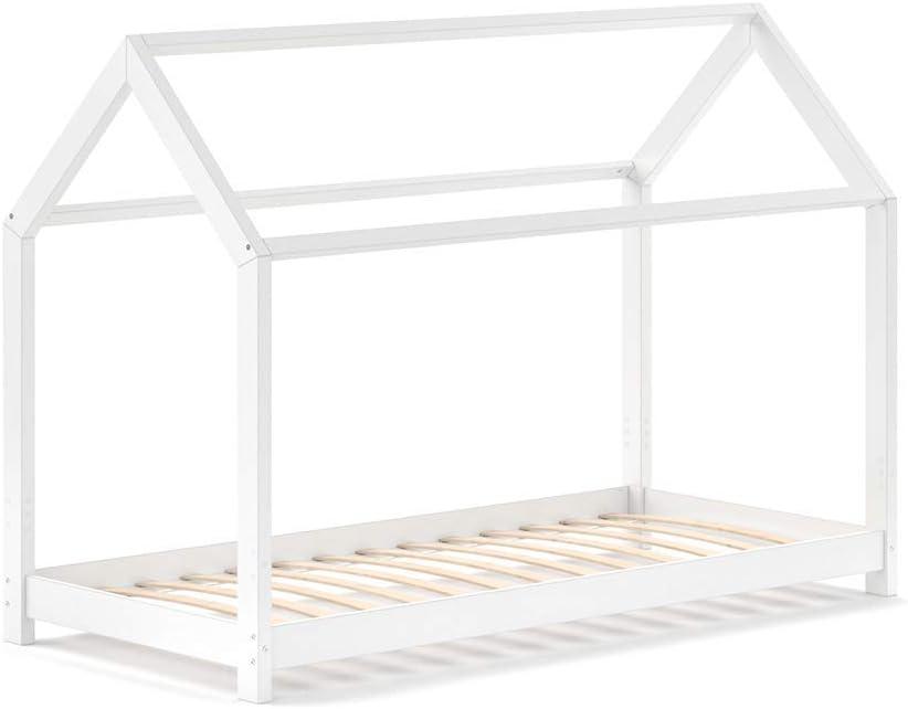 Vicco – Cuna Wiki 90 x 200 cm, Color Blanco, Espacio para Dormir, cajones: Amazon.es: Hogar