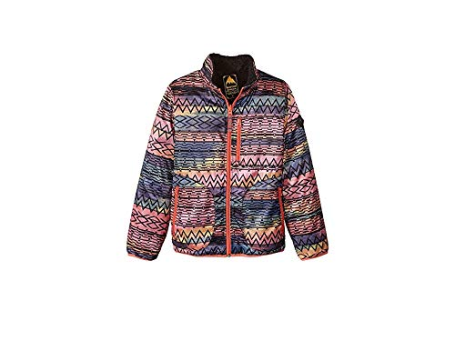 Burton Girls' Snooktwo Reversible Fleece Jacket, Technicat Dream/True Black, X-Large ()