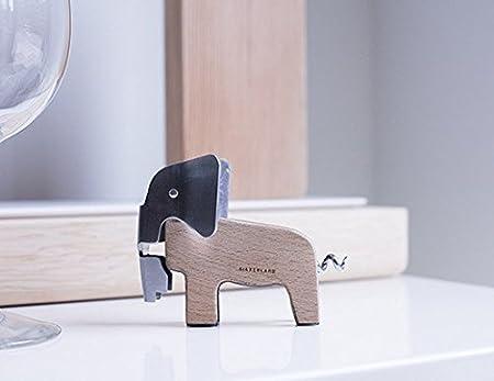 Kikkerland Elefante Sacacorchos de madera de haya