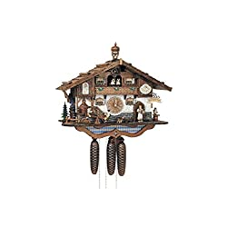 17 Bavarian Chalet with Beer Drinkers, Dancing Couple and Water Wheel