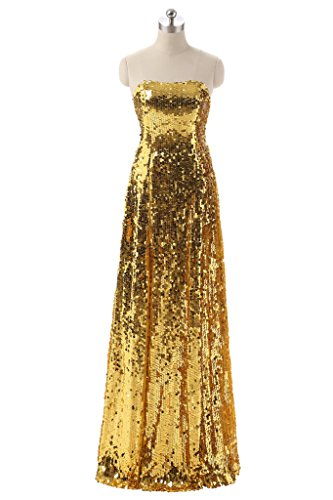 YSFS - Vestido - para mujer dorado