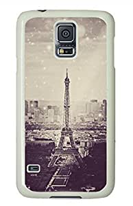 Eiffel Tower 12 White Hard Case Cover Skin For Samsung Galaxy S5 I9600