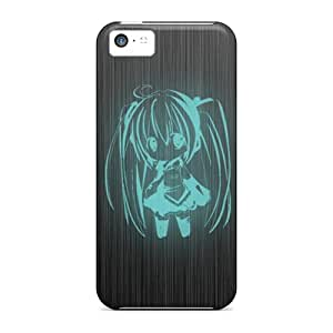Great Cell-phone Hard Cover For Iphone 5c With Provide Private Custom Beautiful Hatsune Miku Pattern CharlesPoirier