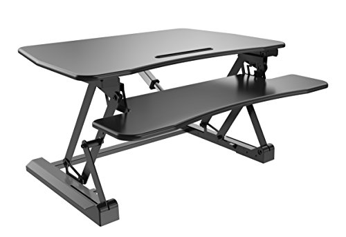 Zeal Desk Pro E33 Electric Auto Adjustable Height Standing Desk Converter - Sit to Stand 33