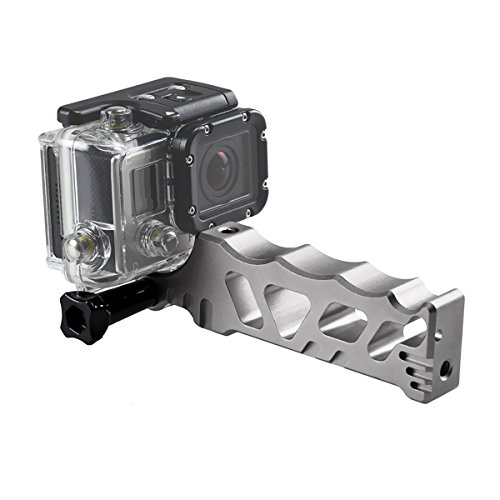 Solid Super Aluminium CNC Martial Style Monopod for GoPro Hero 3 3+ 4 - Silver