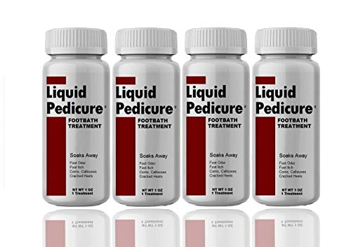 Liquid Pedicure Footbath Treatment Eliminates Chronic Foot Odor and Athlete's Foot Itch, 4 Bottles (4 ()