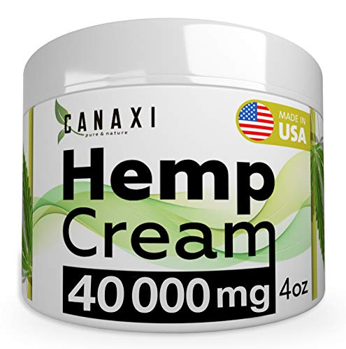 Natural Hemp Extract Pain Relief Cream 40000MG Hemp Balm Ointment Slave Contains Arnica for Inflammation Arthritis, Knee, Joint & Back Pain Muscle Pain Relief - Made in USA - EMU Oil - GMO-Free