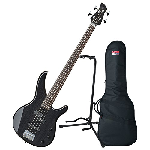 (Yamaha TRBX174EW TBL ELECTRIC BASS TRANSLUCENT BLACK w/ Gig Bag and Stand)