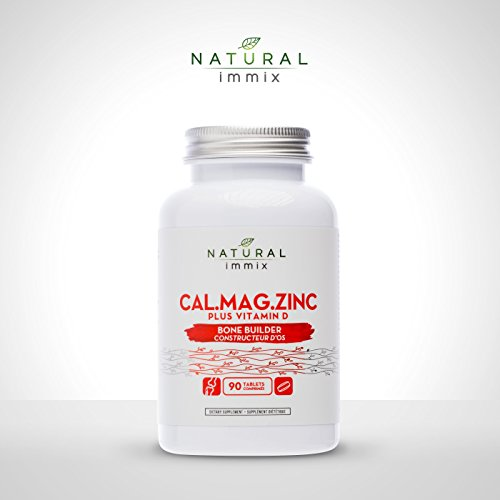 Natural immix - Cal.Mag.Zinc Plus Vitamin D, Promotes Strong Bones and Teeth for Osteoporosis Prevention, 90 Tablets