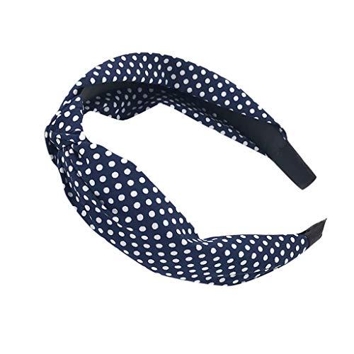 JIUDASG Children Cute Dot Wired Headbanf Polka Tartan Retro Scarf Wire Hair Band -