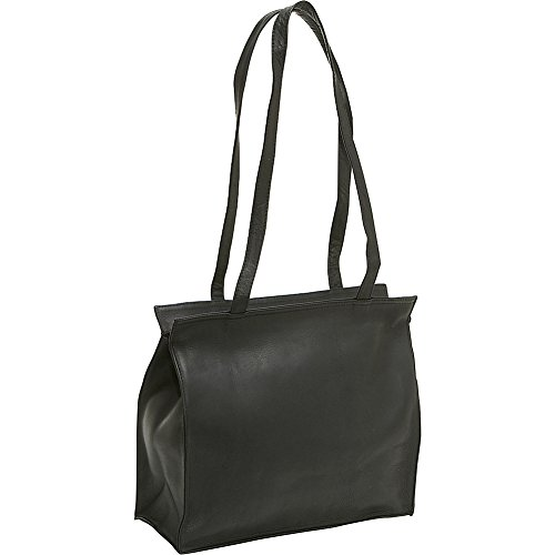 le-donne-leather-simple-tote-black