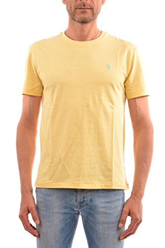 Polo Ralph Lauren Men's Classic Fit Crew-Neck T-Shirt - High Quality Cotton (X-Large, Banana Peel)
