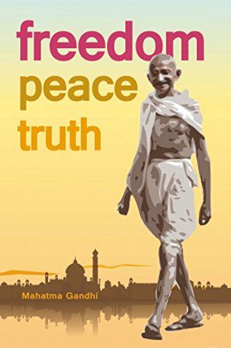 Posters: Mahatma Gandhi Poster Art Print - Freedom, Peace And Truth