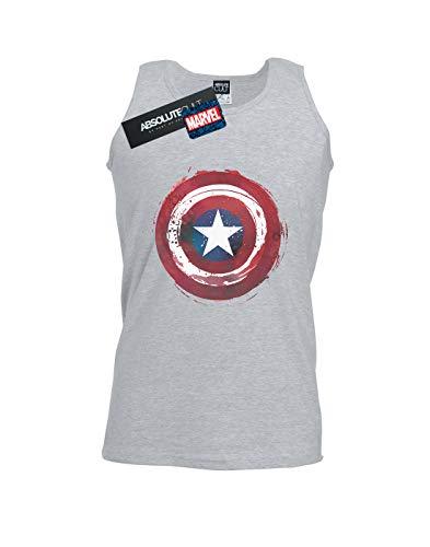 Tank Homme Gris Captain America Top Splatter Marvel Shield Sport qXxd8pw