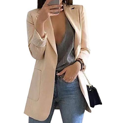 Tootless-Women Pork Chop Pocket Regular Lapel Oversized Blazer Jacket Coat AS1 S ()