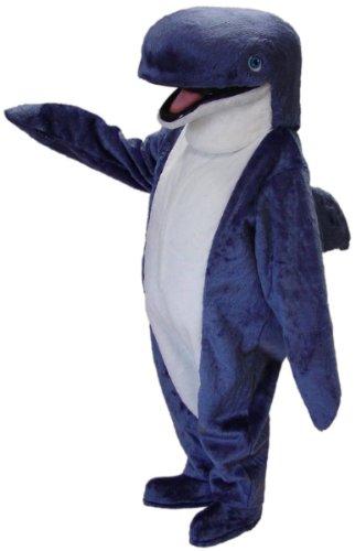 Cute Blue Whale Mascot Costume