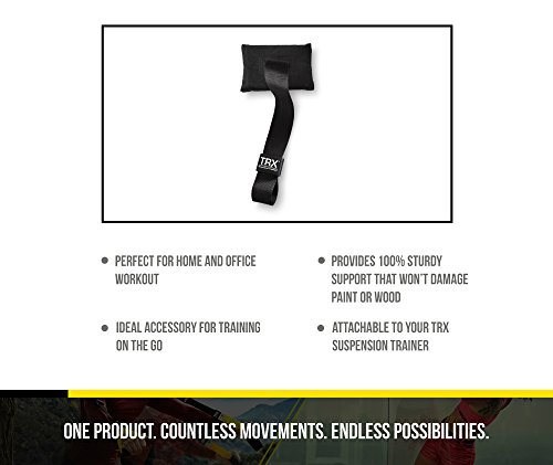 TRX Training Door Anchor, Simple, Portable Anchor Attaches to Any Solid Door Without Damaging Pain or Wood