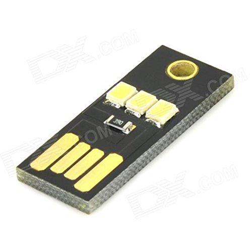 [해외]다음 WY002 미니 USB 22lm 흰색 3-LED 라이트 램프 PC 노트북 전원 은행 - 검정 ARD0747/Next WY002 Mini USB 22lm White 3-LED Light Lamp for PC   L