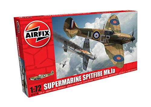 Airfix A01071B Supermarine Spitfire Mkia 1:72 Model Building Kit (36 Piece), Multicolor (Airfix Models)