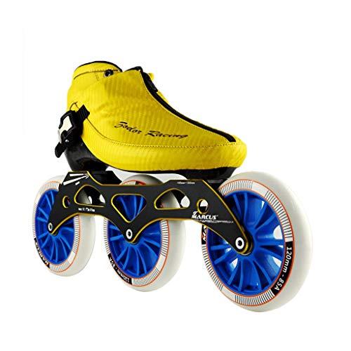 お母さん物理処分したailj スピードスケート靴3 * 120MM調整可能なインラインスケート、ストレートスケート靴(3色) (色 : 黒, サイズ さいず : EU 45/US 12/UK 11/JP 27.5cm)